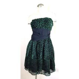 Betsey Johnson Size 8 Strapless Cocktail Dress